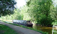 Canal and barge small
